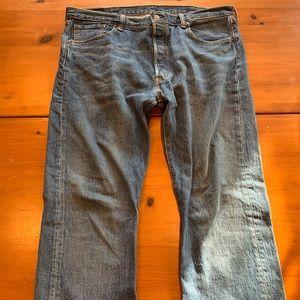 Levi's men's jeans 501 fit